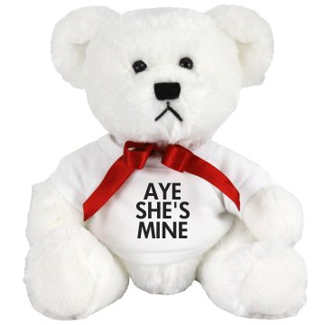 Aye She's Mine Teddy Medium Plush Teddy Bear