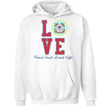 Love Coast Guard Hoodie Unisex Hanes Ultimate Cotton Heavyweight Hoodie