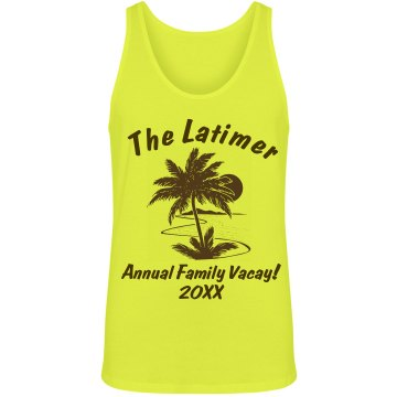 Latimer Family Vacation Unisex American Apparel Neon Tank
