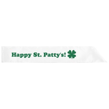 St Patty's Sash Adult Satin Party Sash