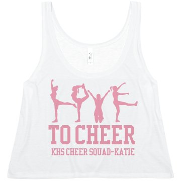 Love To Cheer Misses Bella Flowy Boxy Lightweight Crop Tank