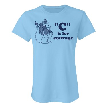 &quot;C&quot; Is For Courage Junior Fit American Apparel Fine Jersey Tee