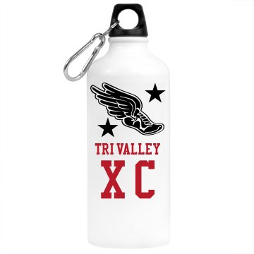 Tri Valley Cross Country Aluminum Water Bottle