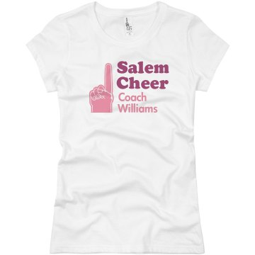 Foam Finger Cheer Coach Junior Fit Basic Bella Favorite Tee