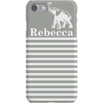 Striped Elephant iPhone Plastic iPhone 5 Case Black