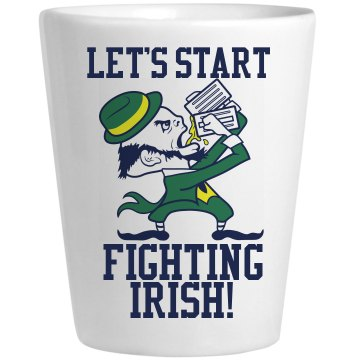 The Fighting Irish Ceramic Shotglass