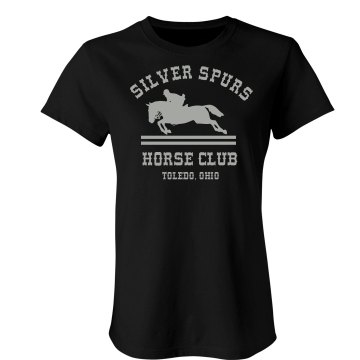 Silver Spurs Horse Club Junior Fit Bella Sheer Longer Length Rib Tee