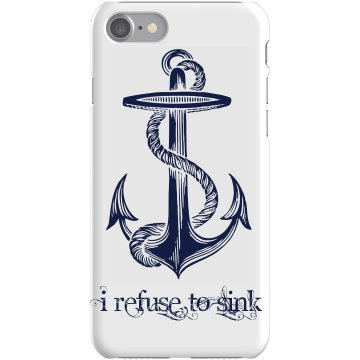 Refuse To Sink  Plastic iPhone 5 Case White