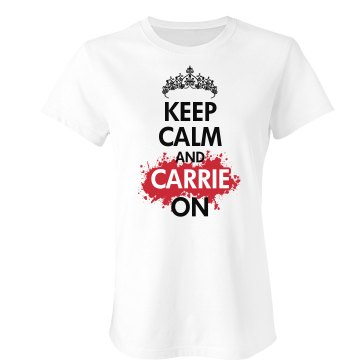 Keep Calm Prom Queen Junior Fit Bella Crewneck Jersey Tee
