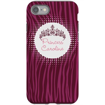 Princess iPhone Case Rubber iPhone 4 & 4S Case Black