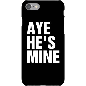 He's Mine Phone Cover Rubber iPhone 4 & 4S Case White