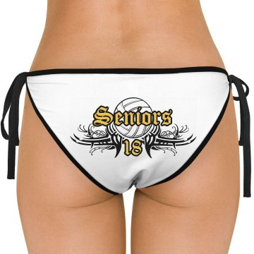 Beach Volleyball Seniors American Apparel Nylon Tricot Side-Tie Bikini Swimsuit Bottom