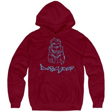 Red Robo Dubstep Unisex Hanes Ultimate Cotton Heavyweight Hoodie