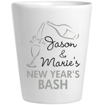 New Year's Bash Shot Ceramic Shotglass