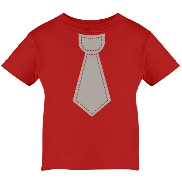 Scarlet &amp; Grey Tie Infant Rabbit Skins Cotton Tee