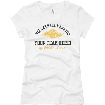 Your Volleyball Team Here Junior Fit Brightline 3/4 Sleeve Jersey Tee