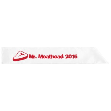 Mr. Meathead Sash Adult Satin Party Sash