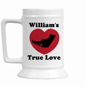 William's True Love Stein 16oz Ceramic Stein