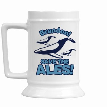 Save the Ales Stein 16oz Ceramic Stein