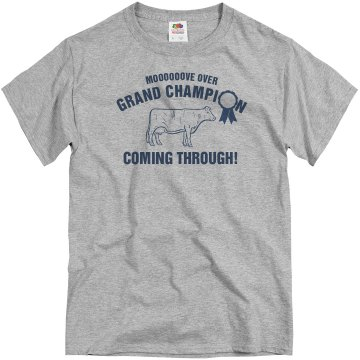 Grand Champion Unisex Basic Gildan Heavy Cotton Crew Neck Tee
