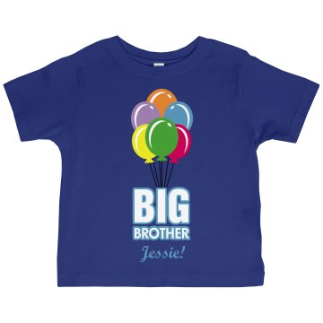 Big Brother Balloon Tee Toddler Gildan Ultra Cotton Crew Neck Tee