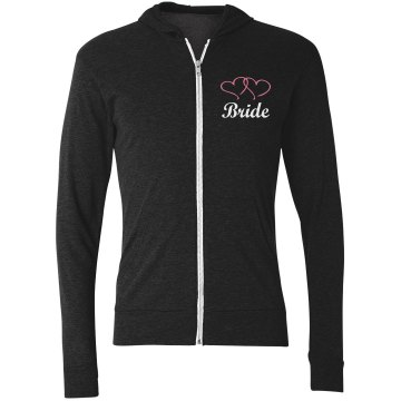 Bride Heart Jacket w/Back Junior Fit Bella Cadet Zip Track Jacket