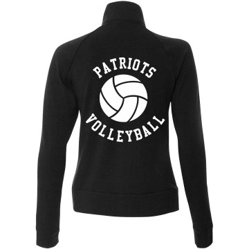 Patriots Volleyball Junior Fit Bella Cadet Zip Track Jacket
