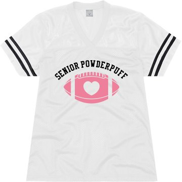 Senior Powderpuff Junior Fit Soffe Mesh Football Jersey