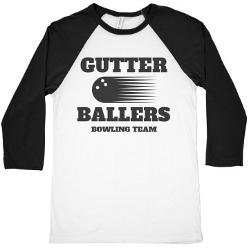 Gutter Ballers Bowling T Junior Fit Bella Sheer Longer Length Rib Tee