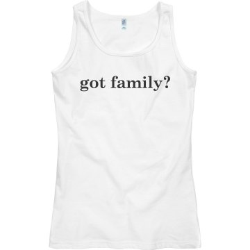 Got Family Reunion Junior Fit Bella Sheer Longer Length Rib Tee