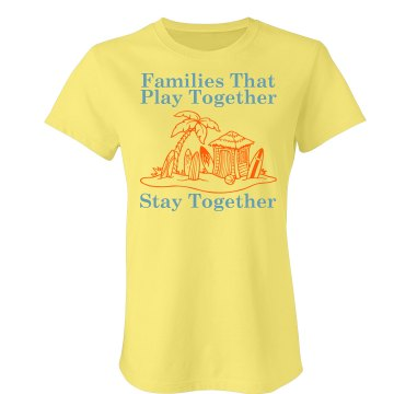 Family Vacation w/Back Junior Fit Bella Crewneck Jersey Tee