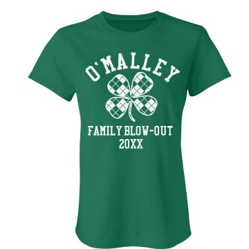 O'Malley Family Blow Out Junior Fit Bella Crewneck Jersey Tee