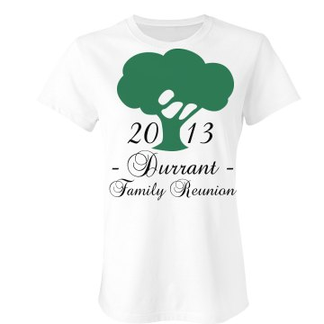 Durrant Family Reunion Junior Fit Bella Sheer Longer Length Rib Tee