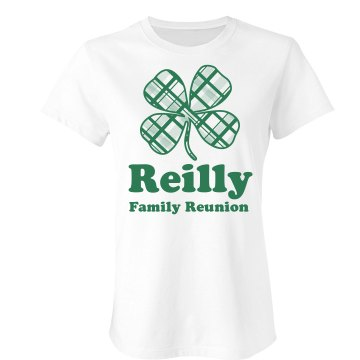Reilly Irish Family w/ Bk Junior Fit Bella Sheer Longer Length Rib Tee