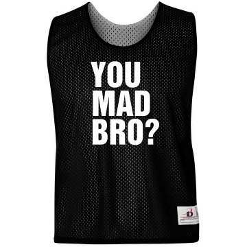 You Mad Bro Pinnie Badger Sport Lacrosse Reversible Practice Pinnie