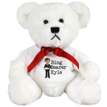 Ring Bearer Stuffed Bear Medium Plush Teddy Bear