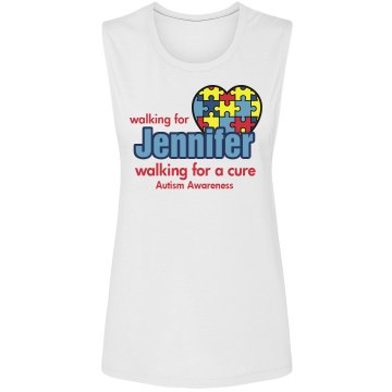 Autism Awareness Walk Alo Women's Bamboo Racerback Tank Top