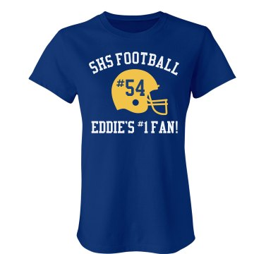 Eddie's Football Fan Junior Fit American Apparel Fine Jersey Tee