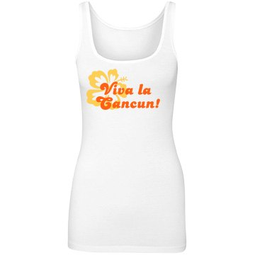 Viva La Vacation Junior Fit Bella Longer Length 1x1 Rib Tank Top