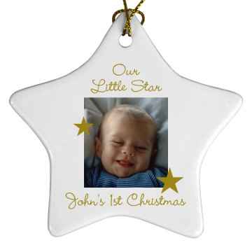 Our Little Star Porcelain Star Ornament