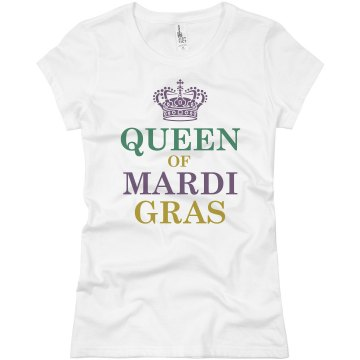 Queen Of Mardi Gras Junior Fit Basic Bella Favorite Tee