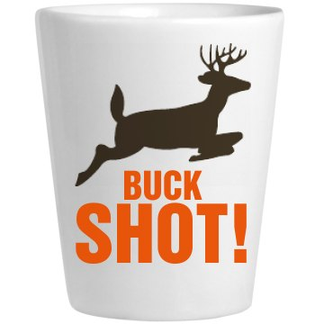 Buck Shot Shot Ceramic Shotglass