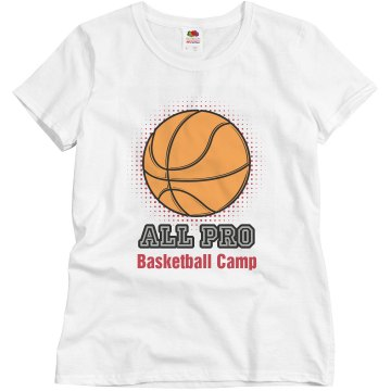 All Pro Basketball Camp Misses Relaxed Fit Basic Gildan Ultra Cotton Tee