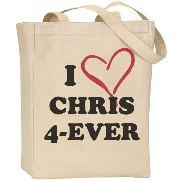I Love Chris 4-Ever Liberty Bags Canvas Tote