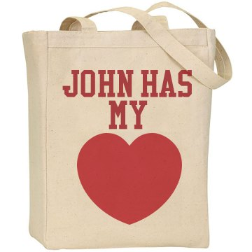 John Has My Heart Liberty Bags Canvas Tote