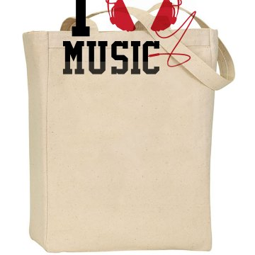 I Love Music Liberty Bags Canvas Tote