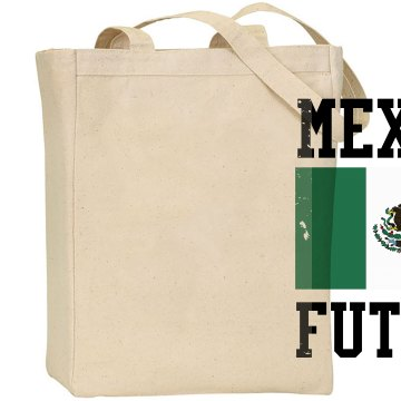 Mexico Futbol Distress Liberty Bags Canvas Tote