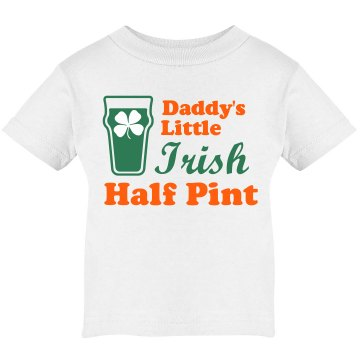 St. Patrick's Half Pint Infant Rabbit Skins Lap Shoulder Tee