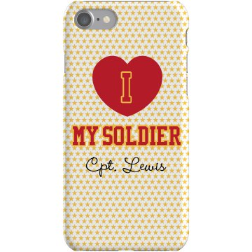 I Heart My Marine Plastic iPhone 5 Case White