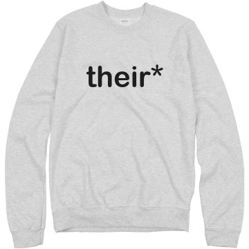 Their Asterisk Unisex Hanes Crew Neck Sweatshirt